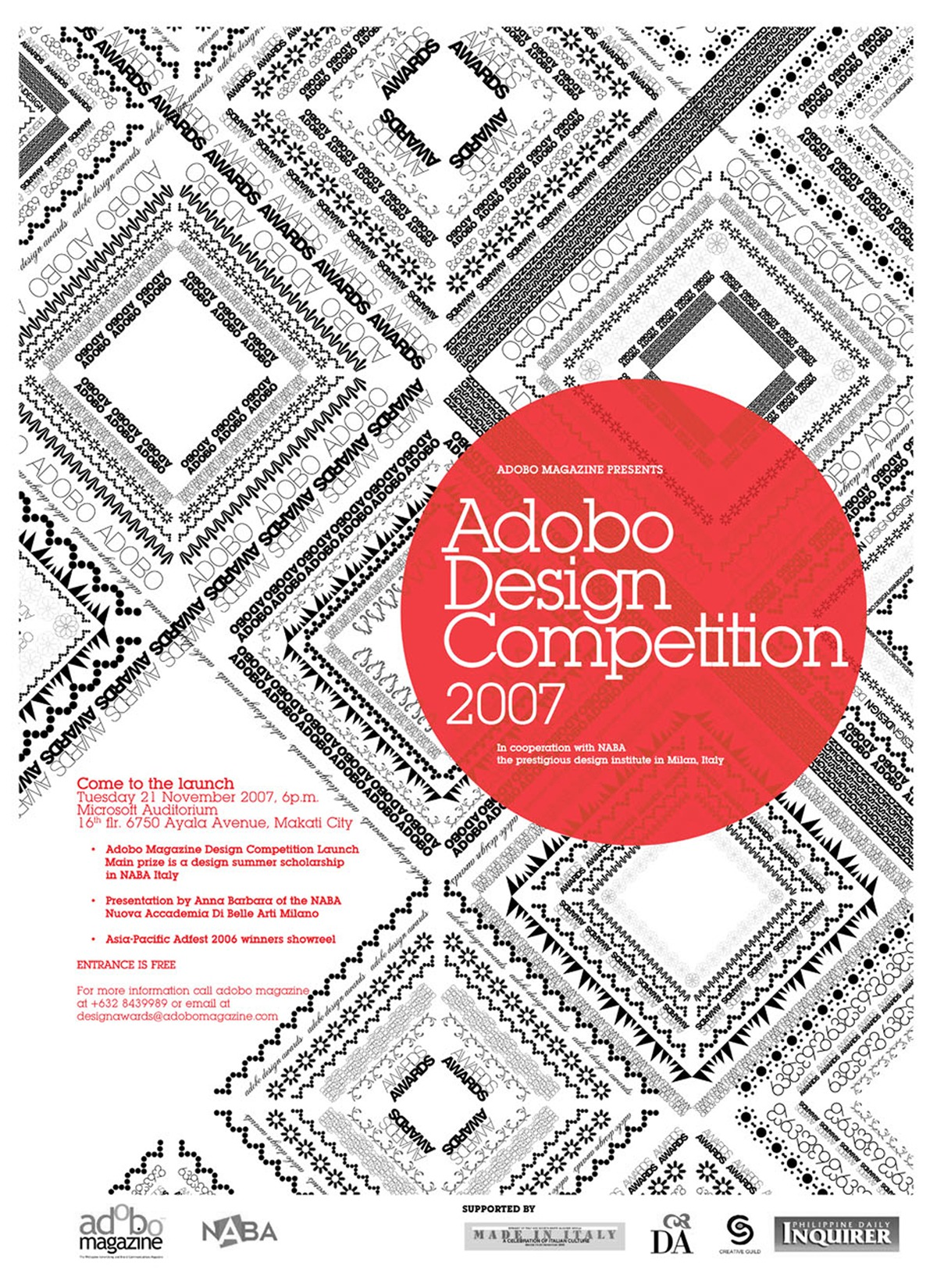 Adobo Design Competition TMSW